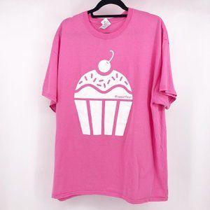 Gildan Cupcake Pink T-Shirt Size XL